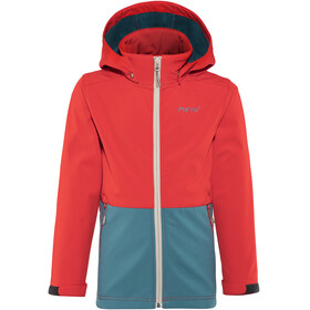 Meru Brest Softshell Jacket Kids Fiery Red